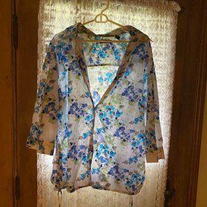 Karen Scott Unique Sport Long Sleeved Plus Shirt